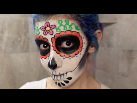 Maquillaje para Día De Muertos, Calaverita de Azúcar (Sugar Skull Makeup) ✜ , Miranda Ibañez