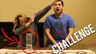 EL RETO DE LA BOTELLA CON MI NOVIO | Water Bottle Flip Challenge
