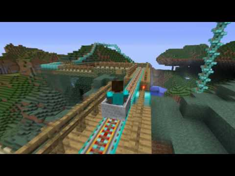 The world longest rollercoaster in Minecraft [HD]