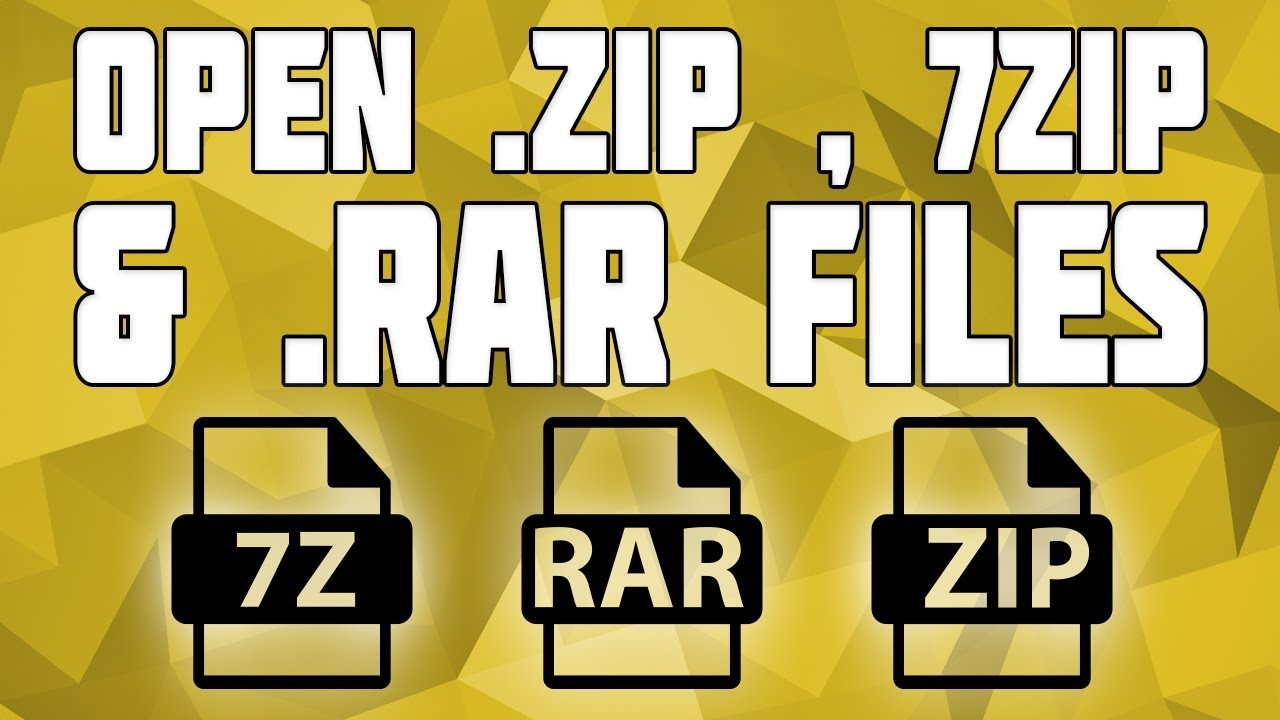 How to Open  Zip &  Rar & 7z Files on Windows! Full Extraction Tutorial  Video!