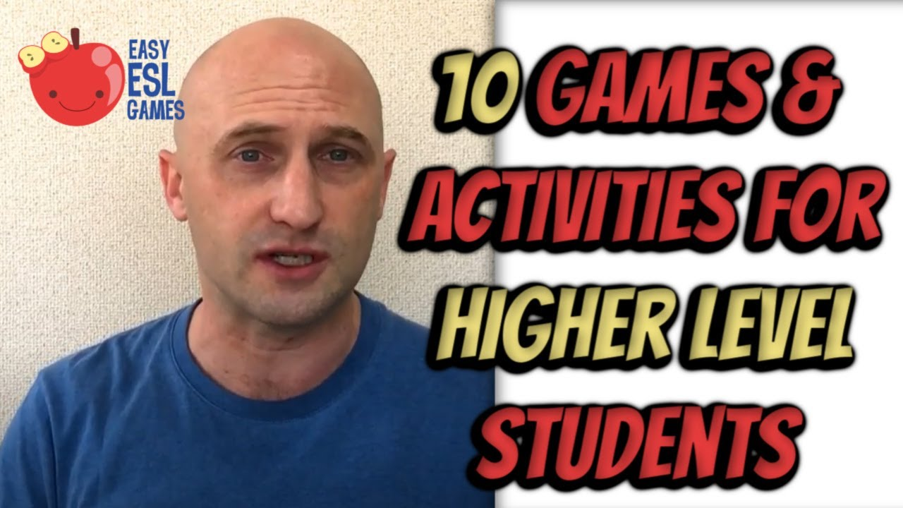 10 Games Activities For Higher Level Students In Online Zoom Classes Easy Esl Games Youtube