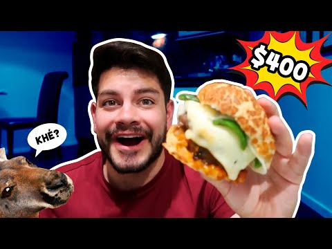 HAMBURGUESA de CANGURO de $400 en AUSTRALIA !!!