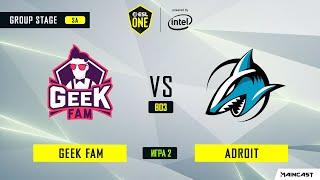 Geek Fam vs Adroit (игра 2) BO3   ESL One Los Angeles   Online