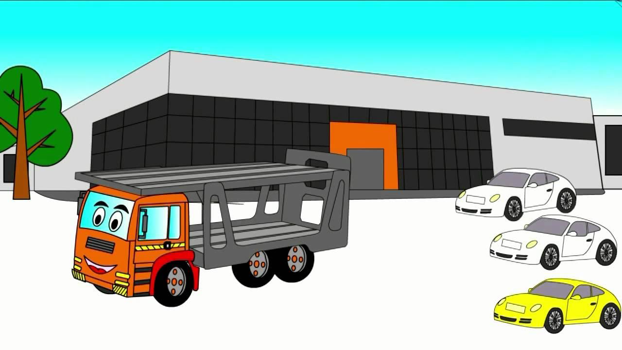 Раскраска Автовоз скачать и распечатать бесплатно   720x1280