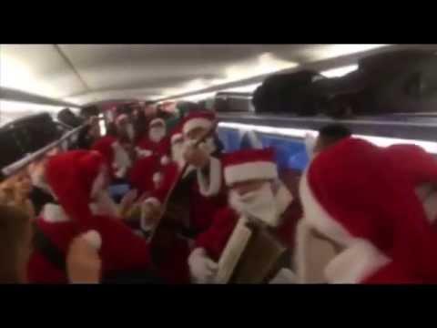 Nikolaus Flashmob 2014 der DB Bahn
