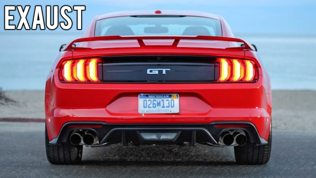 2018 ford mustang gt exhaust sound start up revs acceleration