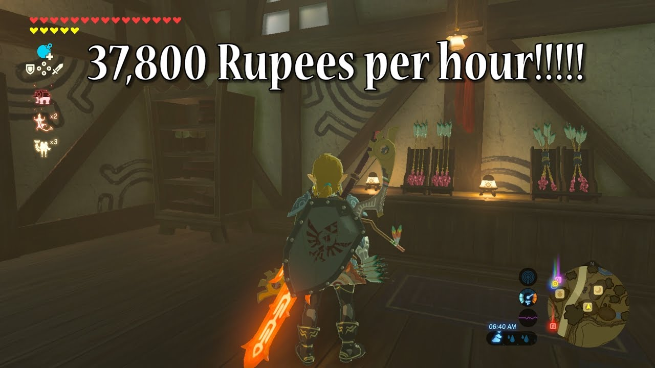 Make Money Fast 37 800 Rupees In 1 Hour In Zelda Breath Of The Wild Youtube