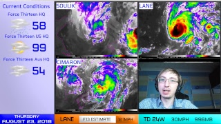 Live Coverage - Hurricane Lane, Typhoon Cimaron, TS Soulik