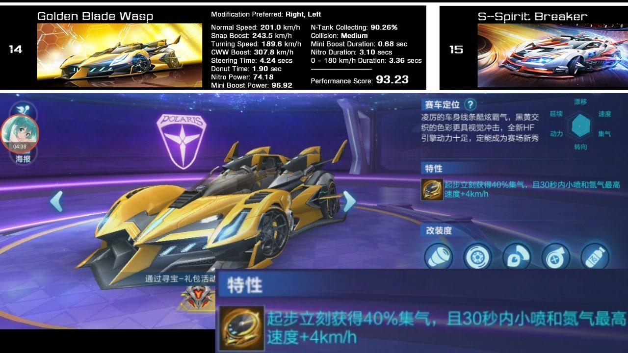 A Voucher Car Better Than S Spirit Breaker Gold Edge Hornet Qq Speed Mobile Youtube