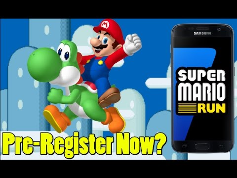 Super Mario Run Pre-Registration for Android Available (Edited For Nintendo)