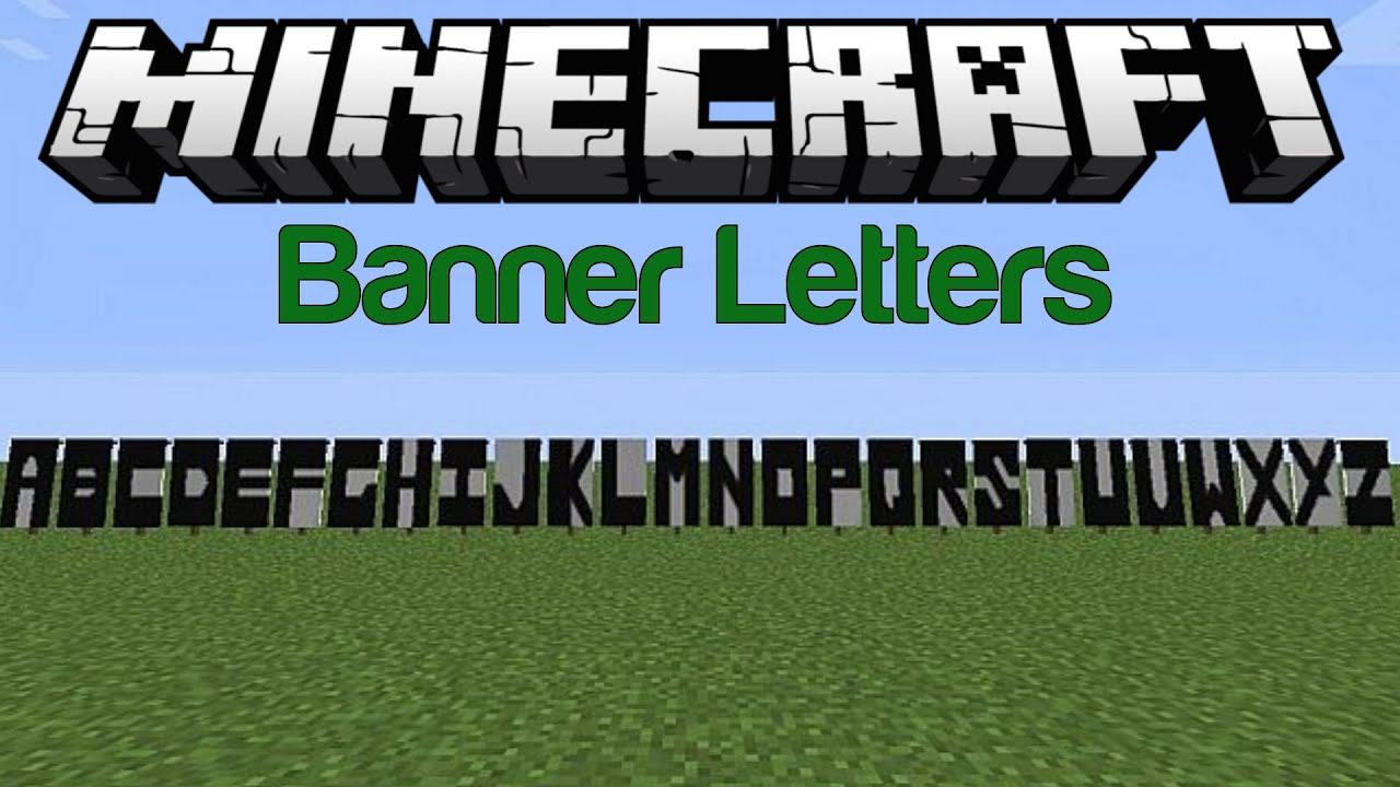 Minecraft Banner Letters Youtube .