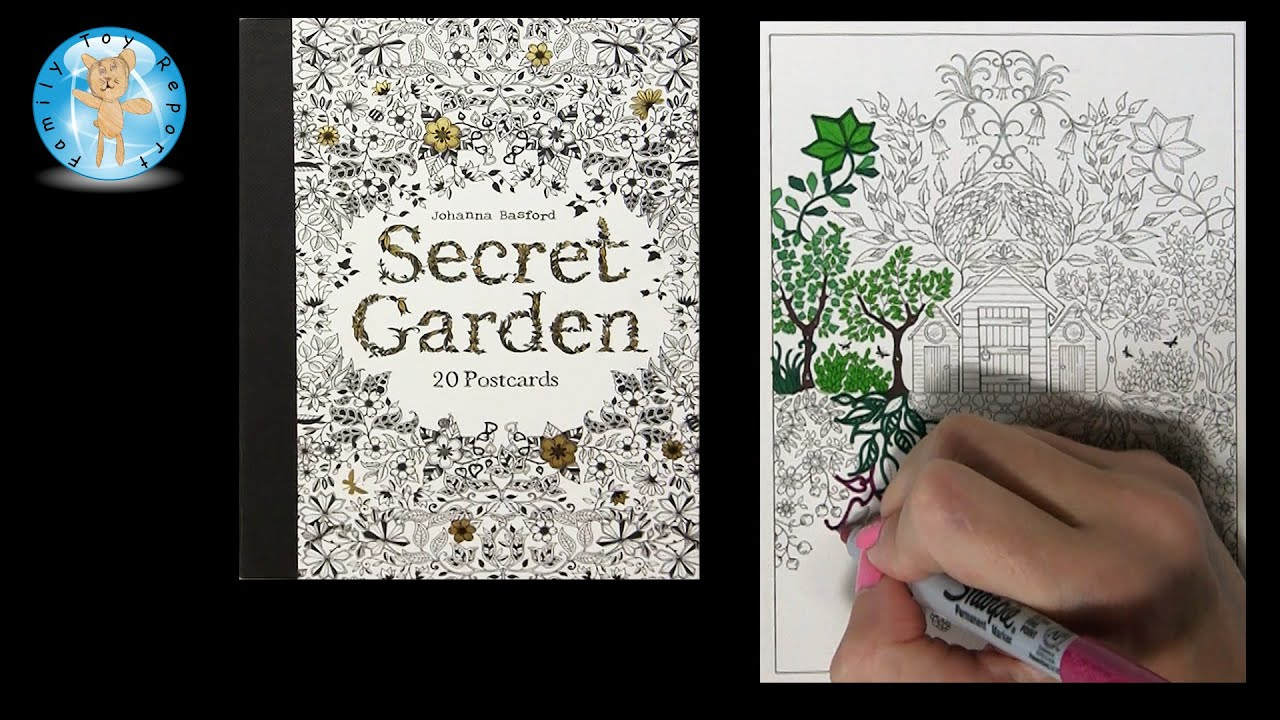 Secret Garden By Johanna Basford Adult Coloring Book Postcards Tree House