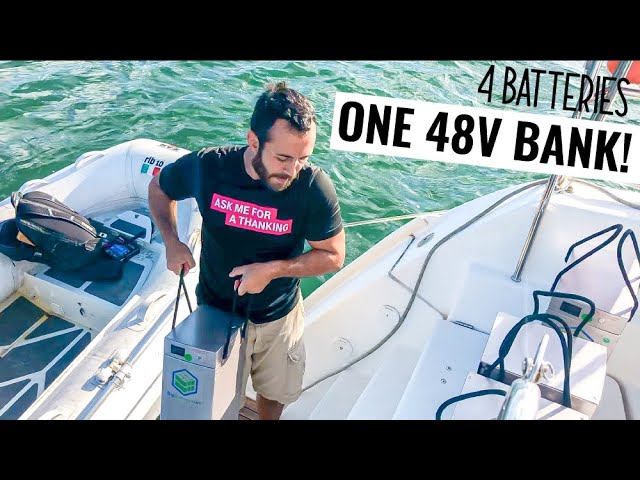 LiFePO4 Installing Lithium Batteries On Our Sailing Boat | Weekly Vlog Ep. 60