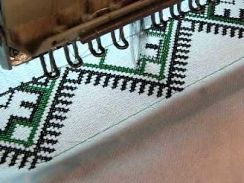 Вышивки крестом на вышивальной машине