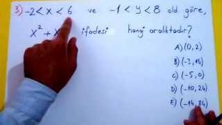 Basit Eşitsizlikler Soru Çözümü Şenol Hoca Matematik
