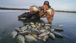 First Ice Fishing Feeding Frenzy! (CATCH CLEAN COOK)