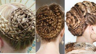 Woven Fishtail Braid Bun | Woven braid| Braiding braids into braids, mutliple braids