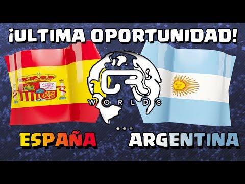 ¡ÚLTIMA OPORTUNIDAD DE ESPAÑA Y ARGENTINA EN EL MUNDIAL! |  CR Worlds Fase de grupos | Clash Royale