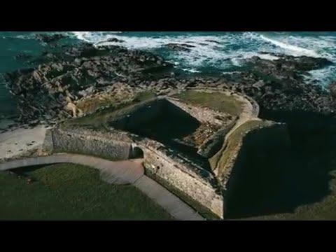 O forte de vinha (1640) .Viana do Castelo. (Portugal vue du ciel)