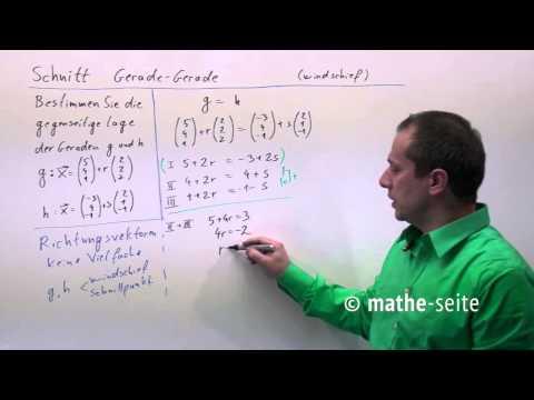 Lage zweier Geraden - Schnittpunkt, Parallel oder Windschief? from YouTube · Duration:  4 minutes 59 seconds