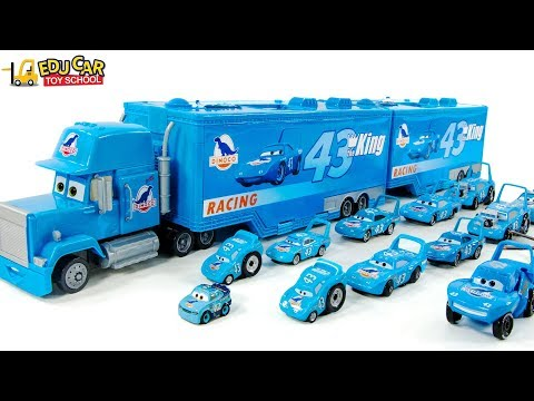 Learning Color Disney Pixar Cars Lightning McQueen Mack Truck Blue Dinoco Play For Kids Car Toys