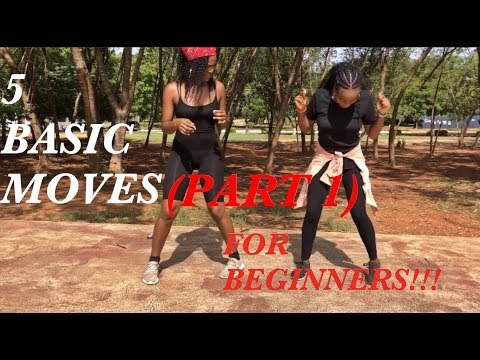 How to dance FIVE(5) basic Afrobeat moves VERY FAST!!!!!(DANCE TUTORIAL)   ( PART 1)