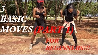 How to dance FIVE(5) basic Afrobeat moves VERY FAST!!!!!(DANCE TUTORIAL) | ( PART 1)