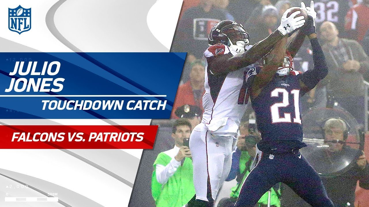 Julio Jones Rips the Ball Away from Malcolm Butler for a TD