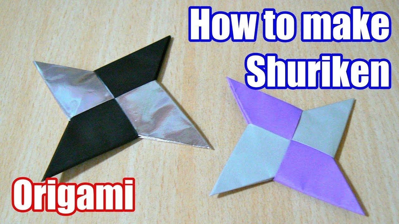 How to make Ninja's Shuriken (NARUTO) Origami. The art of ... - photo#39