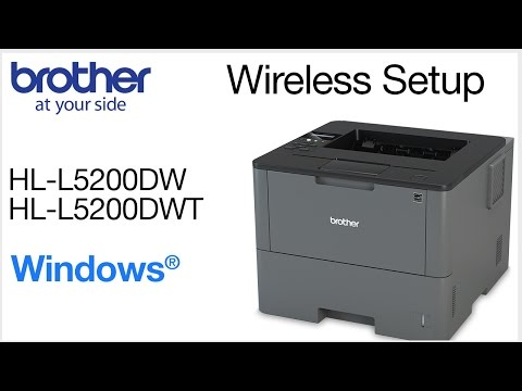 Installing HLL5200DW on a wireless network - Windows® Version