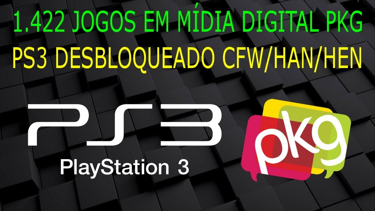 Jogos em MÍDIA DIGITAL PKG para PS3 DESBLOQUEADO CFW/HAN/HEN !!! 1 422  títulos !!!