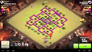 Clash Of Clans Town Hall 7 Attack Strategy For War Dragons/Balloons/Lightning spells