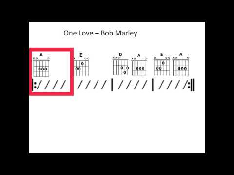 One Love - Moving Chord Chart