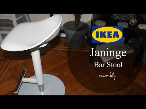 Ikea Janinge Bar Stool Assembly Youtube