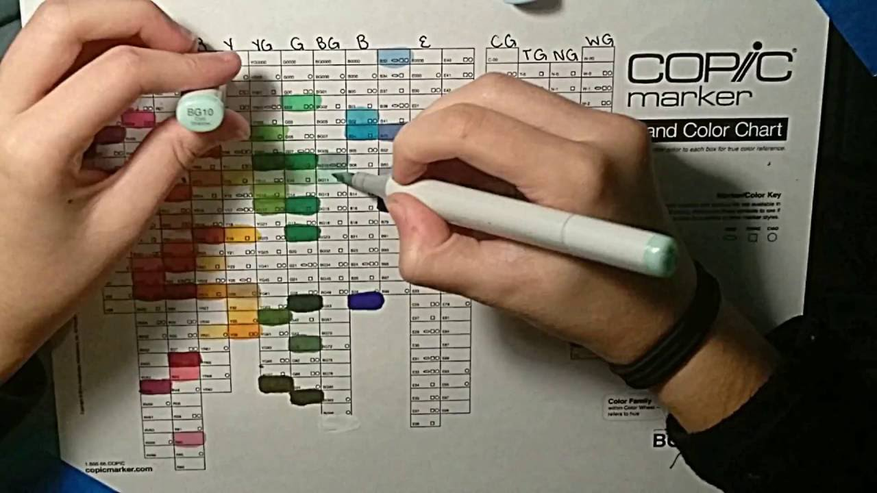 Filling In My Copic Marker Chart Youtube
