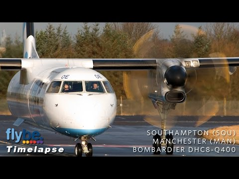 Timelapse Full Flight | Southampton to Manchester | Flybe DHC8-Q400