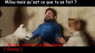 FRENCH LESSON - learn french with Tintin ( french dub ) part 8