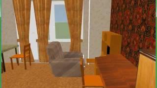 SweetHome 3D: комната после перестановки