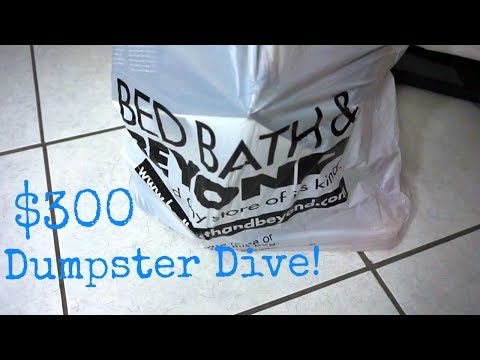 BED BATH AND BEYOND DUMPSTER DIVE