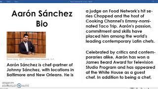 Aaron Sanchez Bio