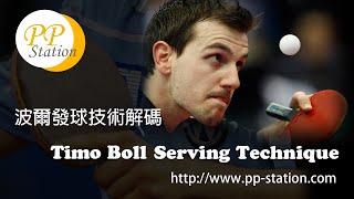 Timo Boll Serving Secret Reveal (Slow Motion) 波爾舉世聞名的發球(慢鏡解拆)  ティモボルサーブ 攻略