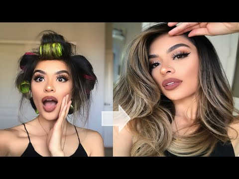BLOWOUT WITH ROLLERS | BIG & BOUNCY HAIR