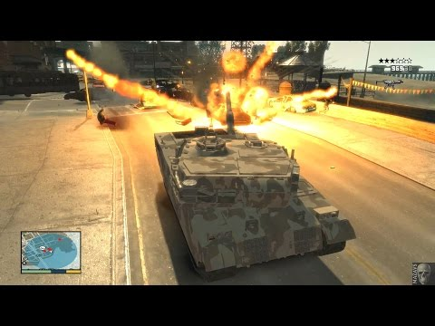 GTA 4 In Style GTA V | Version 5.0 | Танк, вертолеты, хаос, смерть!