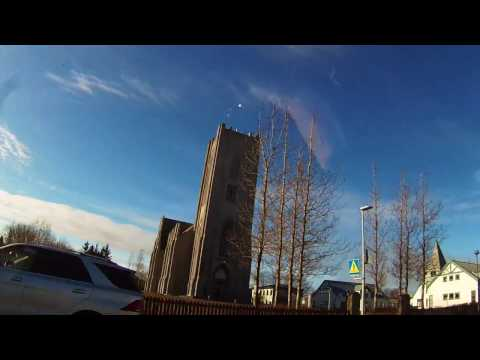 Reykjavik timelapse driving 2017 april Iceland go pro hero 3