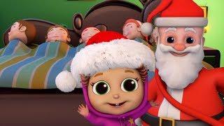 Five Little Babies Christmas | Nursery Rhymes