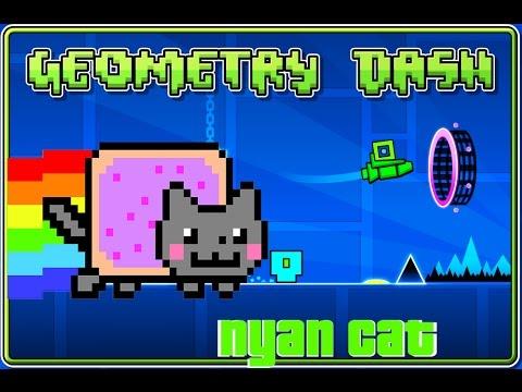 nyan cat y pel cano en geometry dash estad sticas bycraftxx youtube. Black Bedroom Furniture Sets. Home Design Ideas