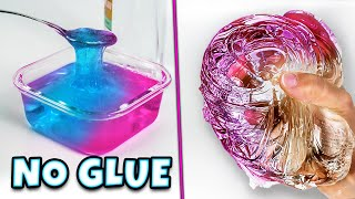 Testing Instant NO GLUE WATER SLIME recipes! WATER SLIME!
