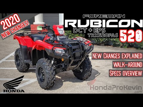 2020 Honda Foreman RUBICON 520 DCT + EPS ATV Review of Specs / Changes & Walk-Around (TRX520FA6)
