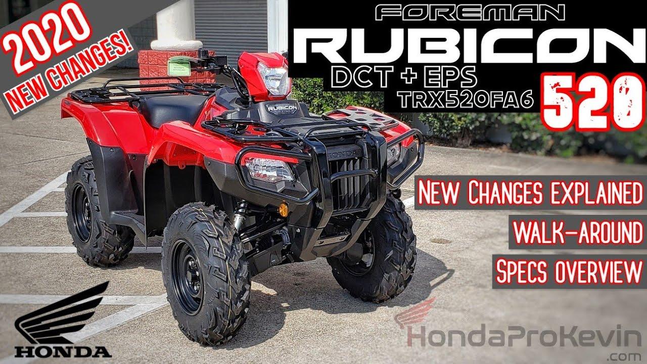 2020 Honda Foreman Rubicon 520 Dct Eps Atv Review Of Specs Changes Walk Around Trx520fa6