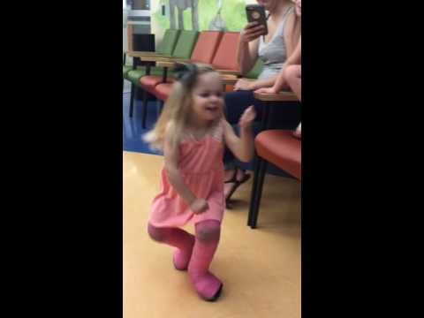 Toddler in Double Leg Casts Dancing - YouTube
